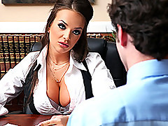 I Bet Your Boss Is Nowhere Near as Hot as This Brunette!