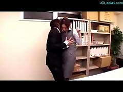 Office Lady In Pantyhose Fingered And Fucked..