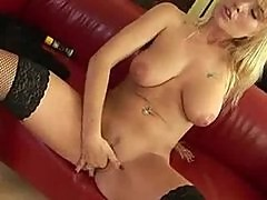 Anastasia plays with her pussy.