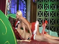 Blonde Babe Is In The Xmas Spirit And Gives Santa Some Pussy