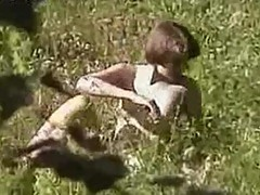 Girl caught naked outdoors