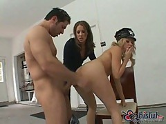 Chelsie Rae and Sindee Jennings are police girls
