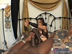 Lucy Thai gets white & black cocks