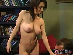 Rayveness big tits covered with cum