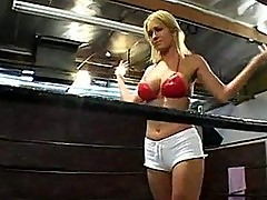 Trina michaels dped in a boxing ring