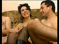 French slut in boots cuckold A75