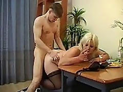 Linda - Chubby mama gets drunk and lets boy fuck her
