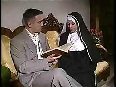 Nasty Nun Gets Randy And Gets Some On The Couch From A Gentleman