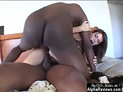 Gia Paloma in Threesome with Big Black Cocks